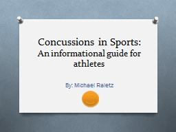 Concussions in Sports:  An informational guide for athletes
