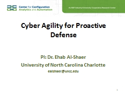 Cyber Agility for Proactive Defense