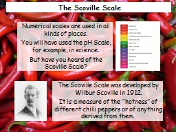 The  Scoville  Scale The