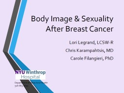 Body Image & Sexuality After Breast Cancer