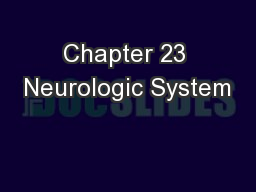 Chapter 23 Neurologic System PowerPoint PPT Presentation
