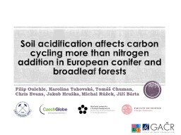 Soil acidification affects carbon cycling more than nitrogen addition in European conifer and broad