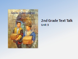 2nd Grade Text Talk Unit