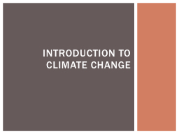 Introduction to Climate
