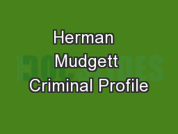 Herman  Mudgett Criminal Profile