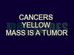 CANCERS YELLOW MASS IS A TUMOR