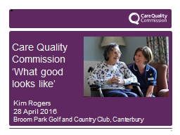 1 Care Quality Commission