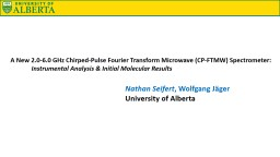 A New 2.0-6.0 GHz Chirped-Pulse Fourier Transform Microwave (CP-FTMW) Spectrometer: PowerPoint PPT Presentation
