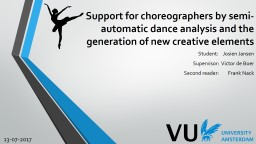 Support for choreographers by semi-automatic dance analysis and the generation of new creative elem