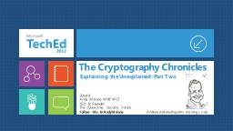 The Cryptography Chronicles
