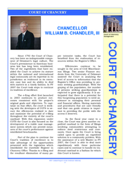 Annual Report of the Delaware Judiciary  COURT OF CHA