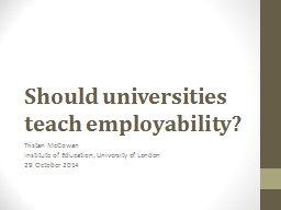 Employability  in higher education: tensions, risks and