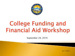 College Funding and Financial Aid PowerPoint PPT Presentation