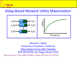 Delay-Based Network Utility Maximization PowerPoint PPT Presentation