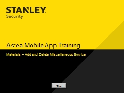 Astea  Mobile App Training