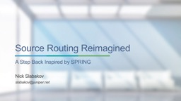 Source Routing Reimagined