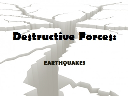 Destructive Forces: EARTHQUAKES