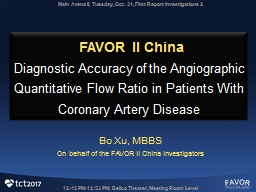 FAVOR II China  Diagnostic Accuracy of the Angiographic Quantitative Flow Ratio in Patients With