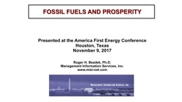 FOSSIL FUELS AND PROSPERITY