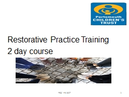 Restorative Practice Training PowerPoint PPT Presentation