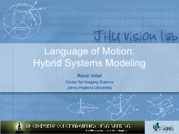 Language of Motion: Hybrid Systems Modeling