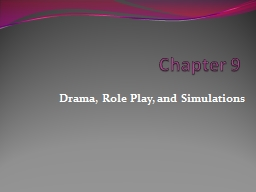 Chapter  9 Drama, Role Play,