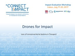 Drones for Impact Uses of