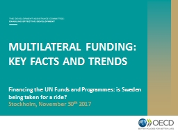MULTILATERAL FUNDING:  KEY FACTS AND TRENDS PowerPoint PPT Presentation