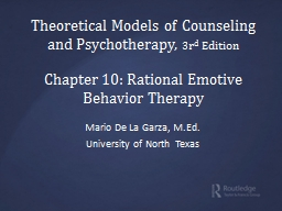 Theoretical Models of Counseling and Psychotherapy, PowerPoint PPT Presentation