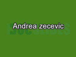 Andrea zecevic