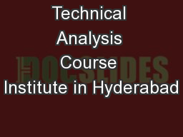 Technical Analysis Course Institute in Hyderabad