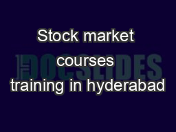 Stock market courses training in hyderabad