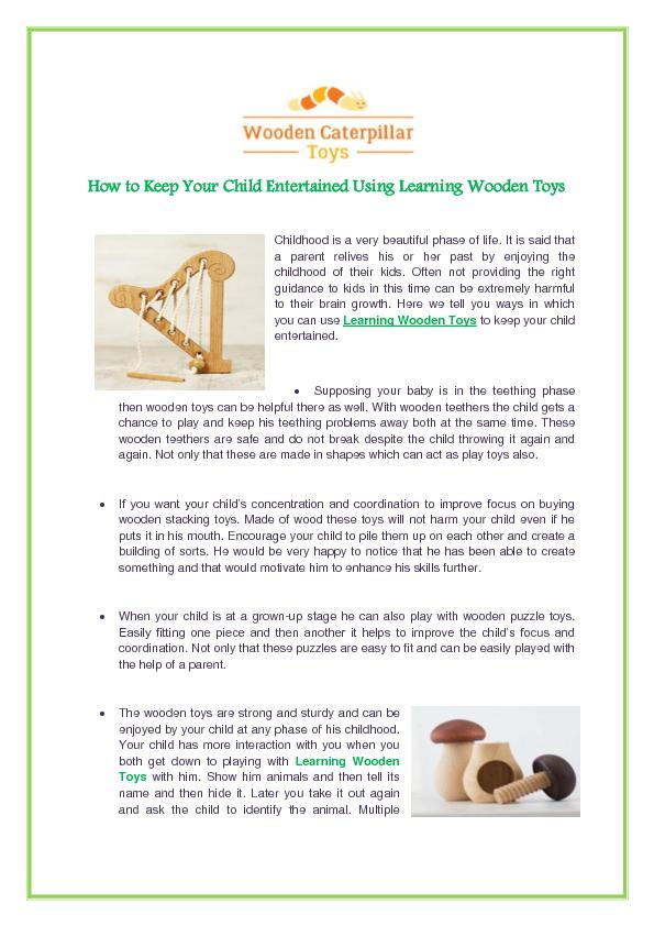 Learning Wooden Toys