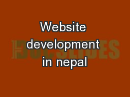 Website development in nepal