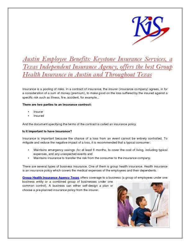 Texas Group Insurance Plans