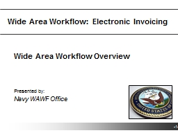 Wide Area Workflow:  Electronic Invoicing