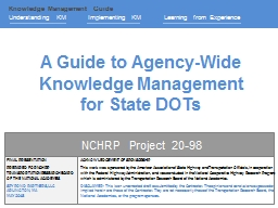 A Guide to Agency-Wide Knowledge Management