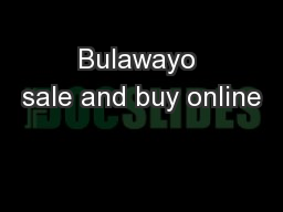 Bulawayo sale and buy online