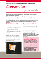 Characterising your waste Waste Tracking Fact Sheet Pr