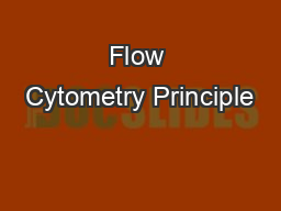 Flow Cytometry Principle