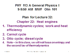 11/19/2012 PHY 113 A  Fall 2012 -- Lecture 32