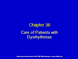 Chapter 36 Care of Patients with Dysrhythmias