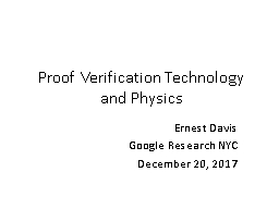 Proof Verification Technology