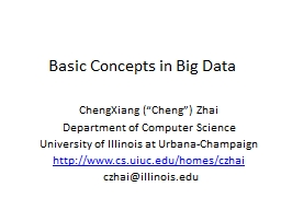 Basic Concepts in  Big Data PowerPoint PPT Presentation