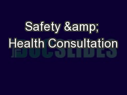Safety & Health Consultation