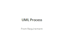 UML Process From Requirement