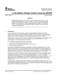 Introduction Application Report SLAA December  LiIon B