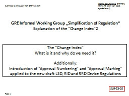 The �Change Index� What is it and why do we need it?