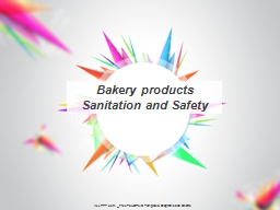 Bakery products Sanitation and Safety