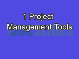 1 Project Management Tools
